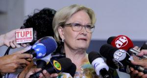 アウキミン氏の副候補のアナ・アメリア氏(Edilson Rodrigues/Agência Senado)