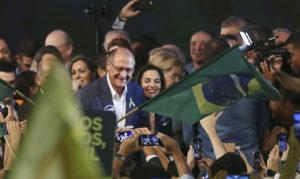 4日の党大会でのアウキミン氏(José Cruz/Agencia Brasil)