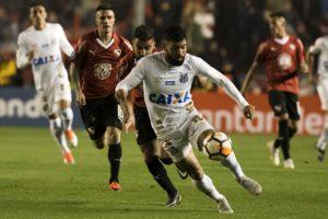 第1試合の様子。サントスFCは突破のために4点差以上付けて勝たなくてはならなくなった(Ivan Storti / Santos FC)