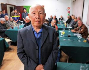 「ブラジル日系美術史」出版記念会のときの田中慎二さん