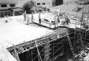 建設中の神内病棟