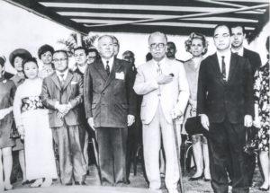 コスタ・エ・シウバ大統領夫妻臨席のもと開場式が行われた(提供・PLゴルフクラブ)