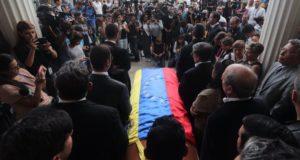 自殺したとされる反体制派市議の葬儀(Agência EFE/Miguel Gutierrez/direitos reservados/Agência Brasil)