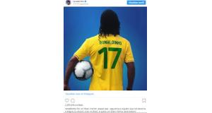 ロナウジーニョの6日のインスタグラムより(instagram)