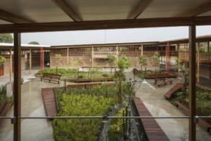 憩いの場でもある中庭(Divulgação)