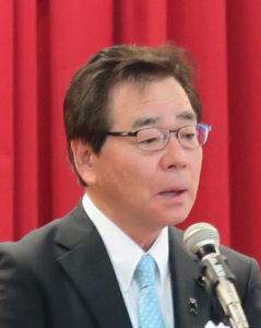 挨拶する森浩二県議会副議長