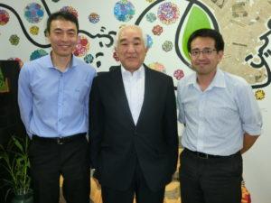 (左から)上利会長、関根会長、吉田会長