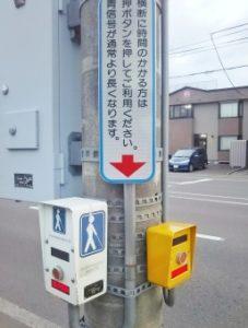 日本にはこのような高齢者向けの横断歩道のボタンがある(参考写真)