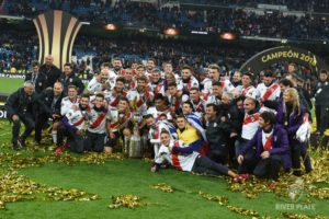 勝利に喜びを爆発させるリーベル・プレートの選手たち(Diego Haliasz/Prensa River)
