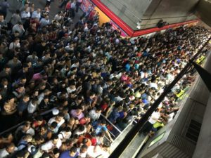 サンパウロ市中心部セー駅でのラッシュアワーの様子(参考画像・Paulo Pinto/Fotos Publicas)