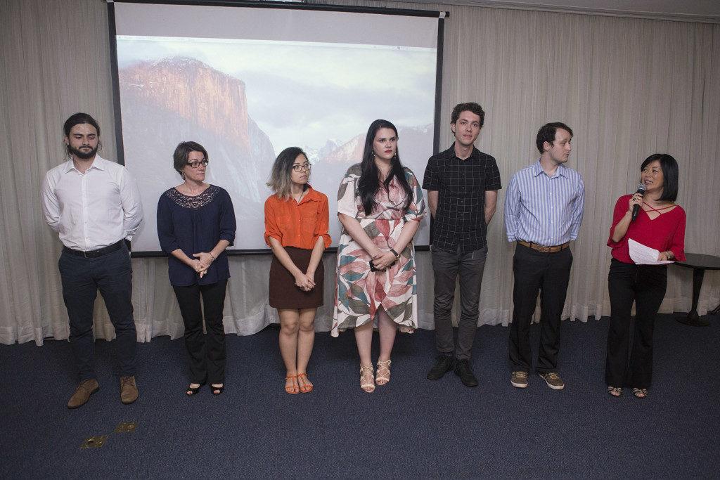 製作に携わったパラナ連邦大学の学生(提供写真)