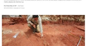 人骨が出てきたことを報じるグローボのサイト(8日閲覧)