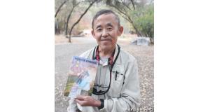 おけいを題材にした小説「Keiko's Kimono」の著者でもあるARCのハーブ・タニモトさん(写真=吉田純子)