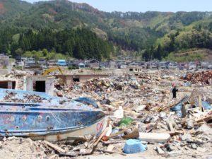 震災後2月後の山田町(2011年5月撮影)