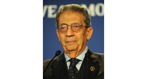 「アラブ諸国の怒りは激しい」と語る、アムル・ムーサ元アラブ連盟事務局長(Guillaume Paumier)