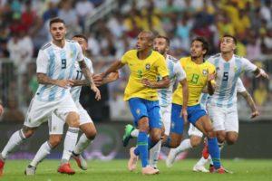 昨年の親善試合で、セレソンはライバルのアルゼンチンにも勝利している(Lucas Figueiredo/CBF)