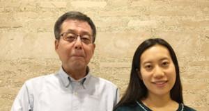 東京在住の白石菜織さん(右)と父の白石敏男さん