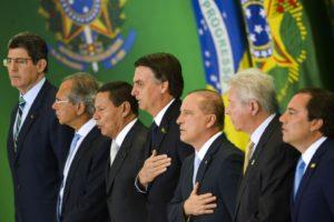 ボルソナロ新内閣の就任式の様子(Foto Marcelo Camargo/Agência Brasil)