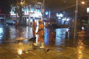 6日夜、リオ市内いたるところで暴風雨が発生した(Prefeitura do Rio)