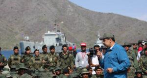 軍の引き締めに必死のマドゥーロ大統領(twitter: @NicolasMaduro)