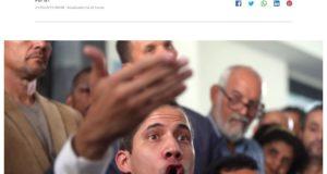 側近逮捕に着いて語るグアイド暫定大統領(21日付G1サイトの記事の一部)