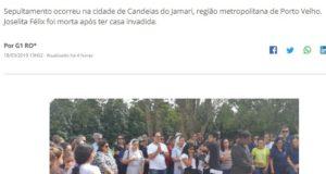 ジョゼリタ氏の葬儀に参列した人々(18日付G1サイトの記事の一部)