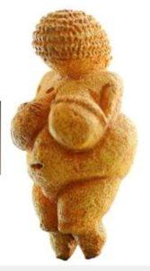 「ビレンドルフのビーナス」と呼ばれる石灰岩製の女性像