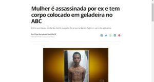 遺体を隠して逃亡しようとしていたルーカス容疑者(19日付G1サイトの記事の一部)