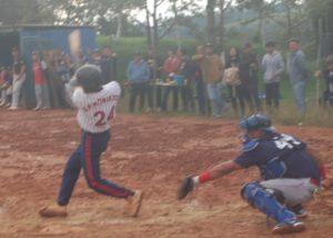 本塁打を放った森清さん