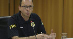 連邦道路警察のアドリアーノ・フルタード氏(José Cruz/Agência Brasil)