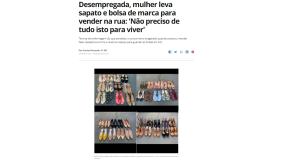 即売会に出した靴などはほとんど全部売り切れた(13日付G1サイトの記事の一部)