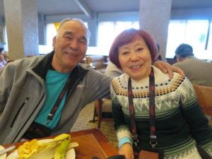畠山富士雄さんと妻の手島幸子さん