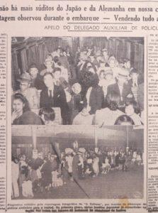 強制立退きを報じるトリブナル・デ・サントス紙1943年7月10日付