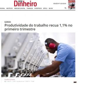 労働生産性低下を報じた11日付イストエ誌電子版の記事の一部