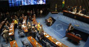 連邦上院本会議場(Fabio Rodrigues Pozzebom/Agência Brasil)