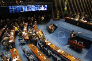 上院本会議の様子(Fabio Rodrigues Pozzebom/Agência Brasil)