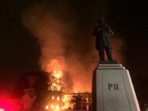 ブラジル皇帝の邸宅だった建物であるブラジル国立博物館は、18年9月2日に発生した火災で9割が燃えてしまった(Felipe Milanez)