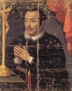 支倉常長像(慶長遣欧使節関係資料、Unidentified painter [Public domain])