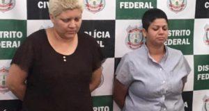 鬼のような母親達(左がロザーナ容疑者、PCDF/Divulgação)