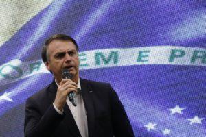 演説するボウソナロ大統領(Fernando Frazão/Agência Brasil)
