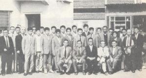 到着したばかりの一晩をモイーニョ・ベーリョ寄宿舎で過ごしたコチア青年の皆さん(『コチア青年の20年』コチア青年連絡協議会、1975年)