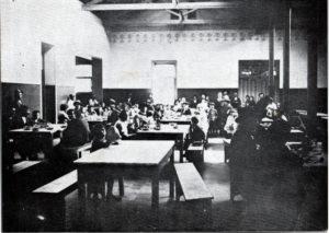サンパウロ市ブラス区にある移民収容所の食堂(『南米写真帳』1921年、永田稠)