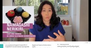 27日に公開された和菓子動画中、サンペイさんが和菓子について紹介しているところ