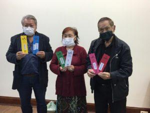 左からACALのフルノ・マサヨシさん、チカザワ・マリーナさん、池崎博文会長