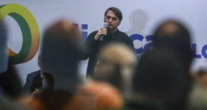 昨年11月の新党発表式のボウソナロ氏(Jose Cruz/Agencia Brasil)