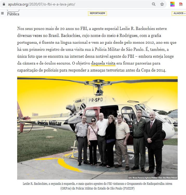 《ブラジル》FBIがラヴァ・ジャット捜査陣と結託?=女性捜査官を派遣し非公式に内通=ルーラ「ペトロブラス利権目的」と批判