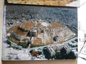 アブドゥルさんの自宅にあるアレッポ城遺跡の写真