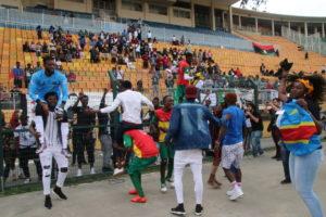 2019年難民サッカーワールドカップサンパウロ大会で優勝したコンゴチームの様子
