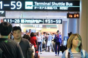 成田国際空港の搭乗ゲートの様子