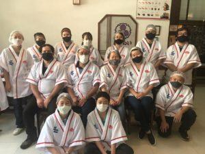 鹿児島県人会メンバー(二列目の右から2番目が内村副会長、その左隣が上園モニカ会長)